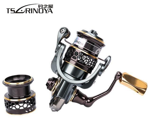 TSURINOYA Jaguar Series 1000 2000 3000 Double Spool Stainless Steel Bearing Ultra-light Lure Spinning Reel Rocky Fishing Reel