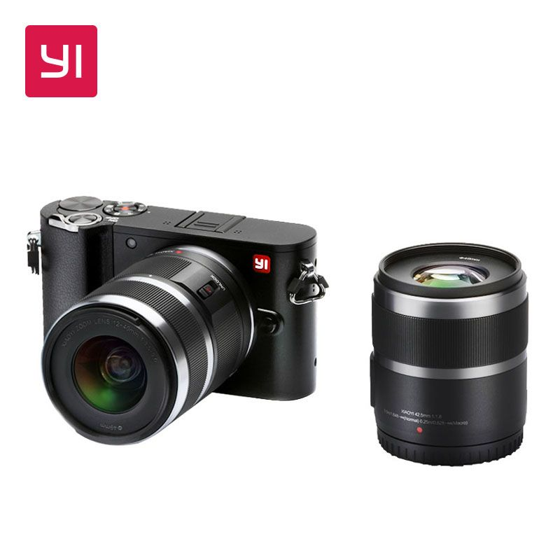 YI M1 Spiegellose Digital Kamera Prime Zoom Zwei Objektiv LCD Minimalistischen Internationalen Version RAW 20MP Video Recorder 720RGB