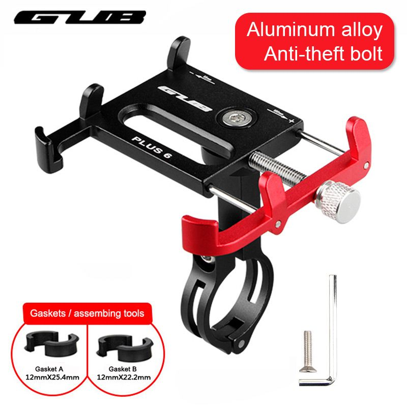 Metal CNC Bicycle Cell Phone Holder MTB Mountain Bike Motorcycle Handlebar Stem Clip Stand Fits for 3.5 - 6.2
