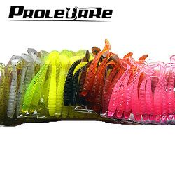 Proleurre 10pcs/lot 50mm 0.7g Soft Rubber Bait Fishing Lure Jig Wobbler Soft Worm Carp Fishing Bait Artificial Silicone Swimbait