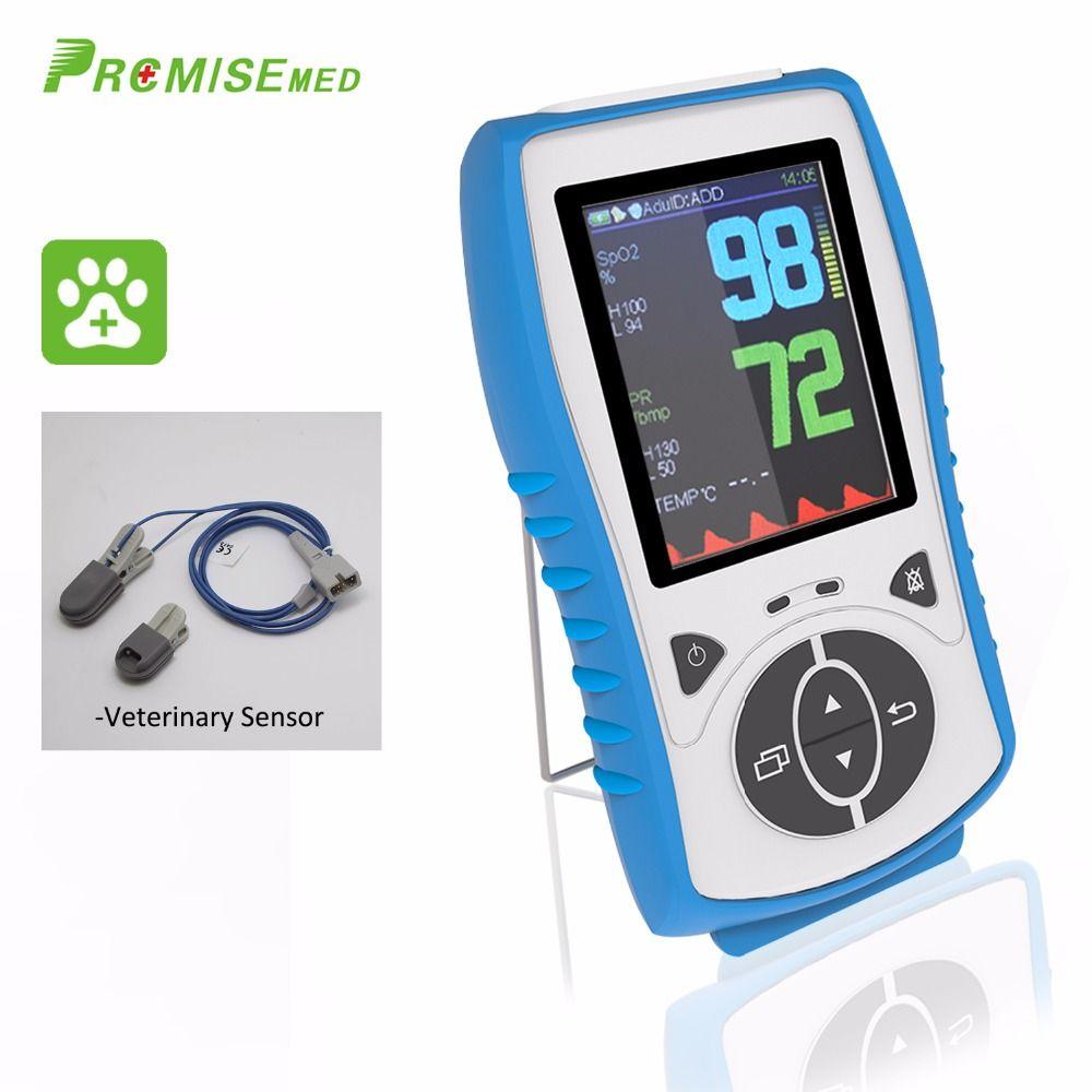 Veterinary Sensor,Handheld Pulse Oximeter,Temperature Probe Blood Oxygen Monitor,2.8 LCD,Pulse Blood Oximetro,CE Approval