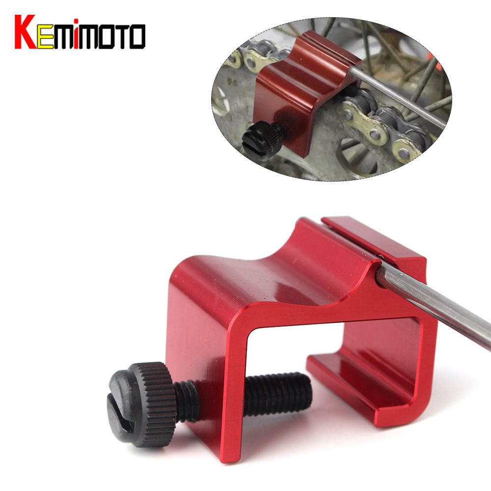 KEMiMOTO Motorcycle Accessories Chain Alignment Tool Installation Assistance Tool Dirt Bike 125CC Motocross Bike MT07 For KTM