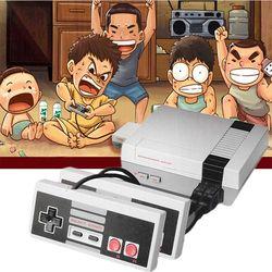 OIVO mise à niveau mini Rétro Vidéo Console de Jeu Intégré 620 Jeux 8 Peu PAL & NTSC Famille TV joueur de jeu de poche Double Gamepads