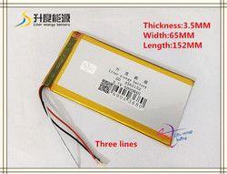3.7 V 5000 MAh 3565152 Polymer Lithium Ion/Baterai Li-ion untuk Tablet PC, Power Bank, Ponsel