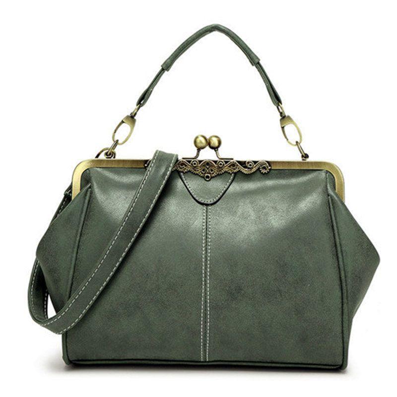 Bolish <font><b>retro</b></font> PU leather women handbag small shoulder bag high quality tote bag small clutch messenger bag