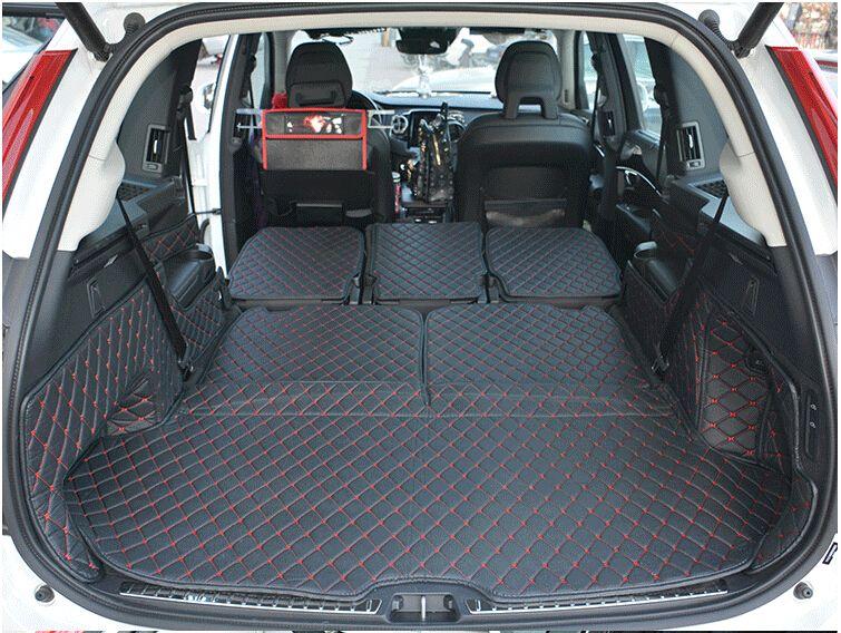 Gute qualität! spezielle kofferraum-matten für Volvo XC90 7 sitze 2018-2015 wasserdicht boot teppiche cargo-liner für XC90 2017, freies verschiffen