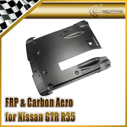 Car-styling For R35 GTR 2012 On Matt Carbon Fiber OEM Rear Under Bottom Diffuser Matte Fibre Surface Racing Auto Body Kit Trim
