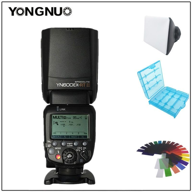 YONGNUO YN600EX-RT II 2.4G Wireless HSS Master TTL Flash Speedlite for Canon 60D 650D 1000D 1200D 700D 600EX-RT 580EX II