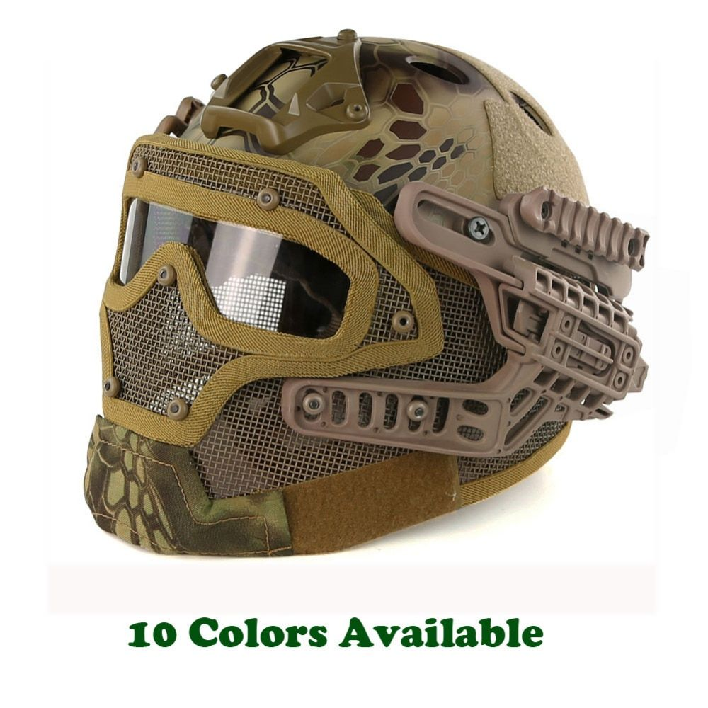 Army Military Tactical Helmet G4 System Casco Airsoft Helmet Sports Accessories Paintball Fullface Protective Face Mask Helmet