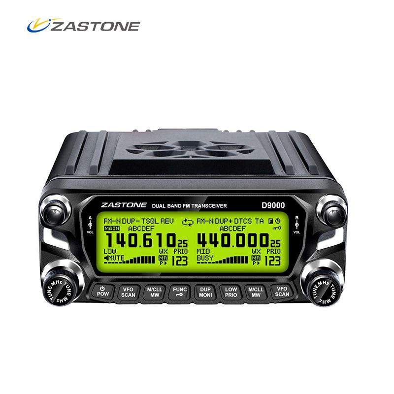 ZASTONE D9000 Car Walkie Talkie 50KM Car Radio Station 50W UHF/VHF 136-174/400-520MHz Two-way Radio Communication Transmitter