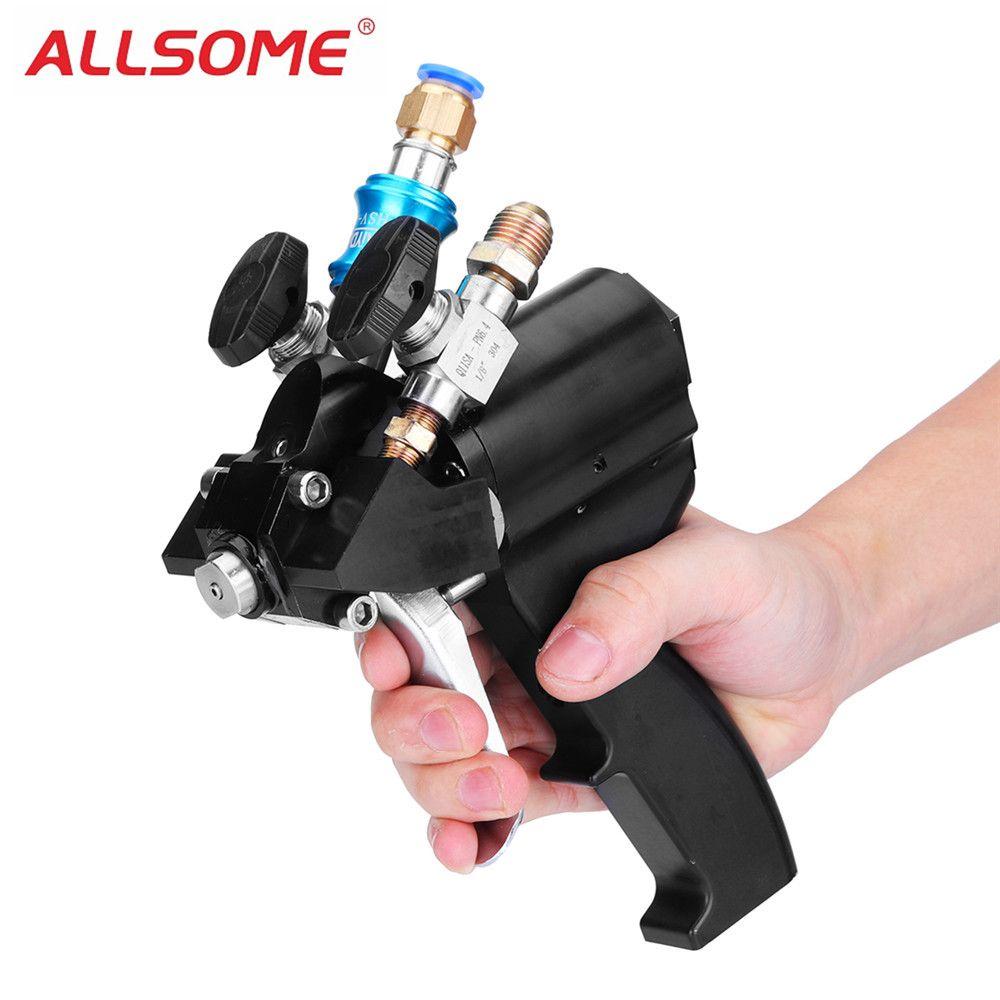 ALLSOME Polyurethan PU Schaum Hochdruck Spritzpistole P2 Luftspülung Spritzen Gun Spray Gießen Gun Werkzeug HT1762