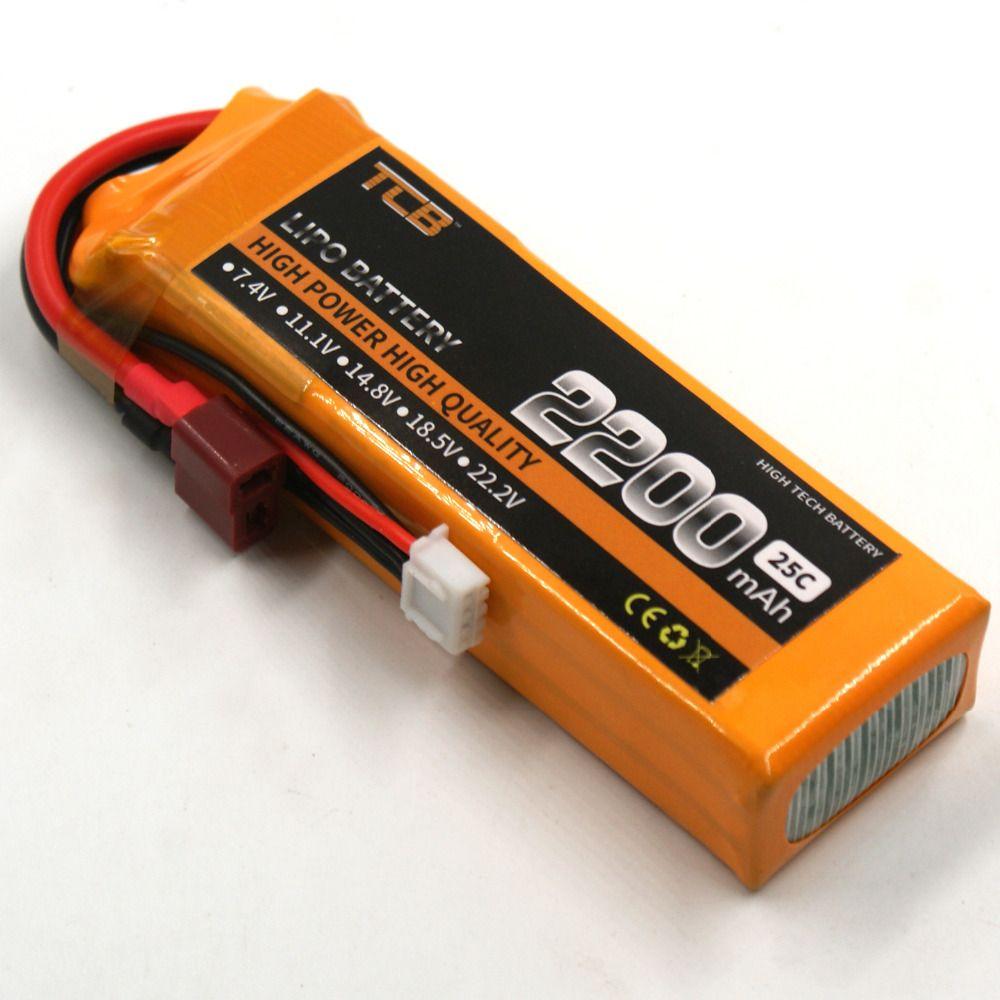 TCB RC LiPo Batterie 11.1 v 2200 mAh 25C 3 s Li-po Batteries pour Trex-450 à voilure Fixe RC Hélicoptère Voiture Bateau Quadcopter 3 S AKKU