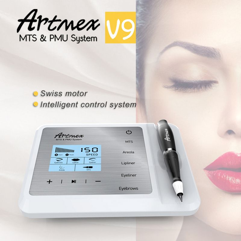 NEUE Augenbrauen Make Up Kits Für Lippen/Rotary Motor Tattoo Maschine Kit Permanent Make-Up Tattoo Maschine Stift Mikropigmentation Gerät