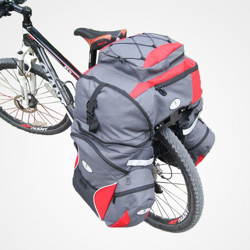 Yanho 65l große kapazität oxford 3in1 mountain road radfahren fahrrad tasche Eine Top + Double Side Gepäckträger Schwanz Seat Trunk Pannier