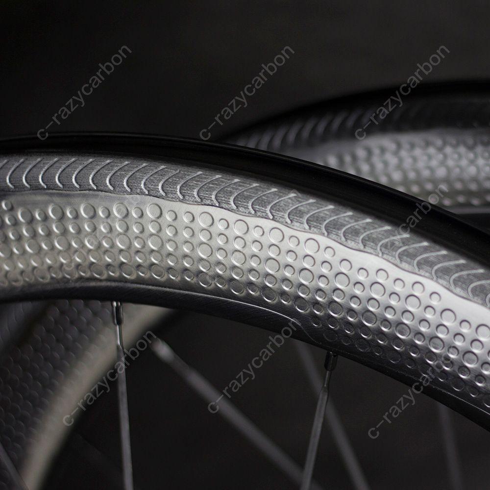 Special brake surface Dimple carbon wheels 2 year warranty 58mm clincher road bike carbon wheel 700C road bike