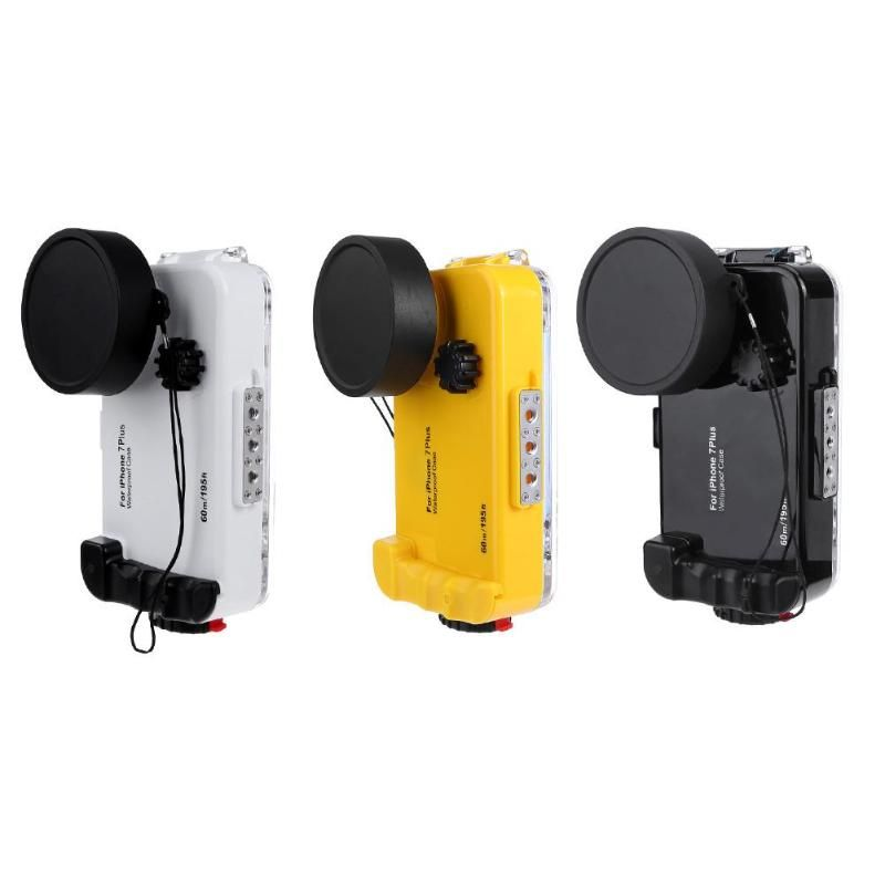 ALLOET IPX8 Waterproof Case For iPhone 7Plus 60m/196FT Underwater Diving Mobile Phone Cover Fisheye Lens Case For iPhone 7 Plus