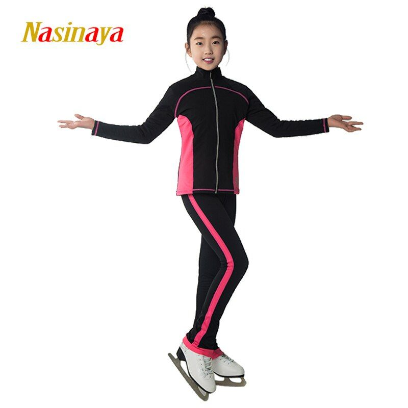 Costume Customized Clothes Ice Skating Figure Skating Suit Jacket And long Pants trousers Warm Feece Adult Child training