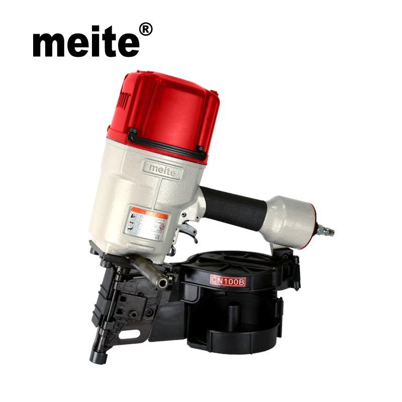 MEITE CN100B 15 grad spule nagel 4 industrielle Pneumatische spule nagler pistole elektrowerkzeuge für schwere paletten und May.5th Update