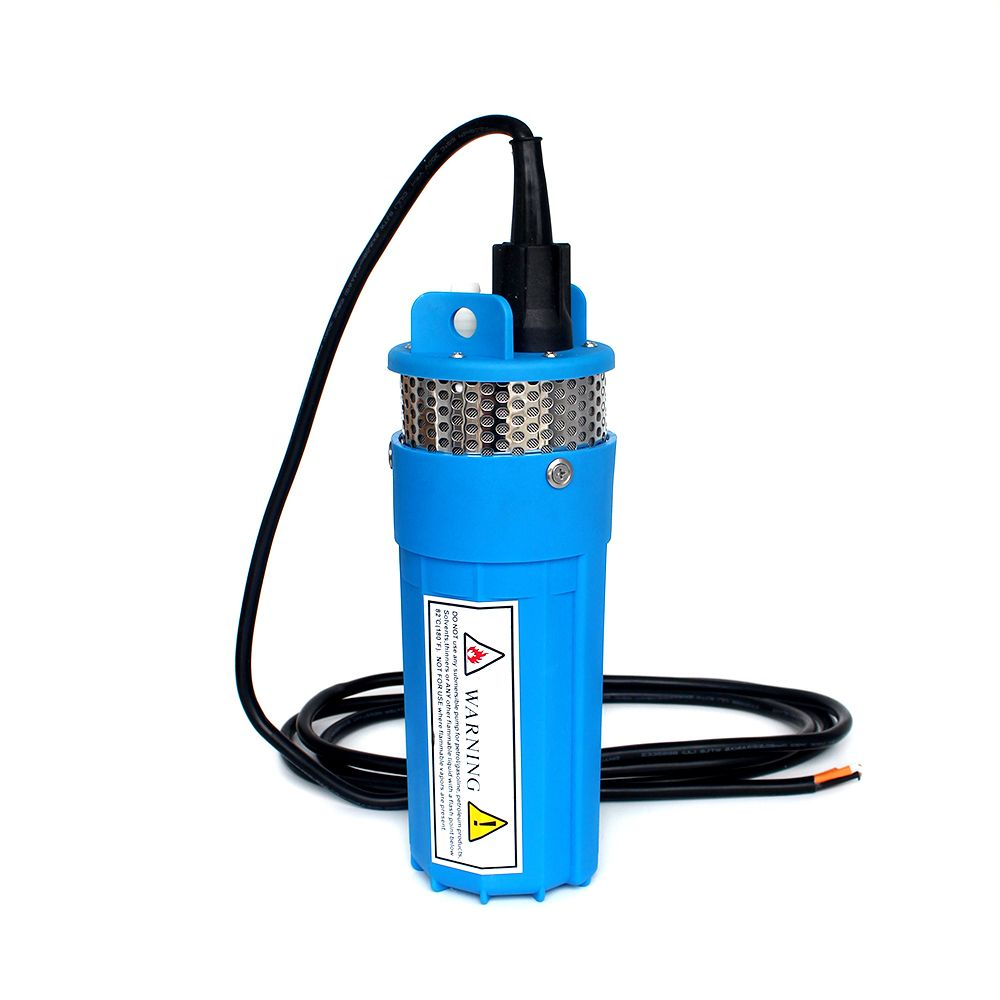 DC 12V 360LPH 70M Lift,Small Submersible Solar energy Water Pump Outdoor Garden Deep Well Car Wash bilge Cleaning 12 v volt,blue