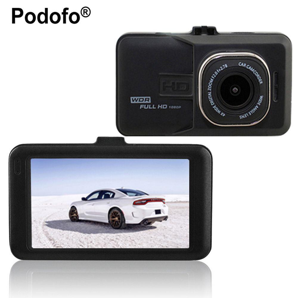 Podofo Novatek 96223 Car Dvr Full HD 1080p Recorder 3.0 inch Dashcam Camera FH06 Video Registrator G-sensor Dash Cam DVRs