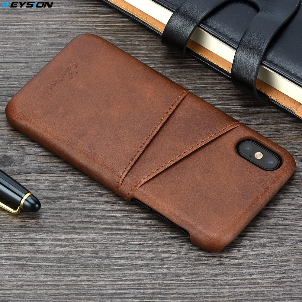 KEYSION Phone Case For iPhone XS XS Max XR Cover Leather Luxury Wallet Card Slots Back Capa For iPhone XR XS Max X Cases Fundas