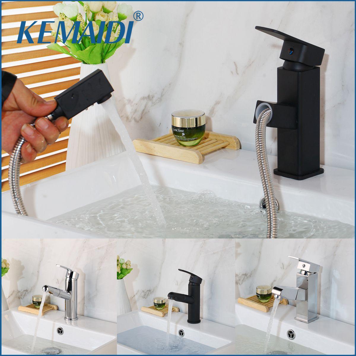 KEMAIDI Deck Montiert Warmen Und Kalten Wasser Mischen Armaturen Home Küche Bad Becken Waschbecken Wasser Wasserhahn Einzigen Handgriff Waschbecken Wasserhahn