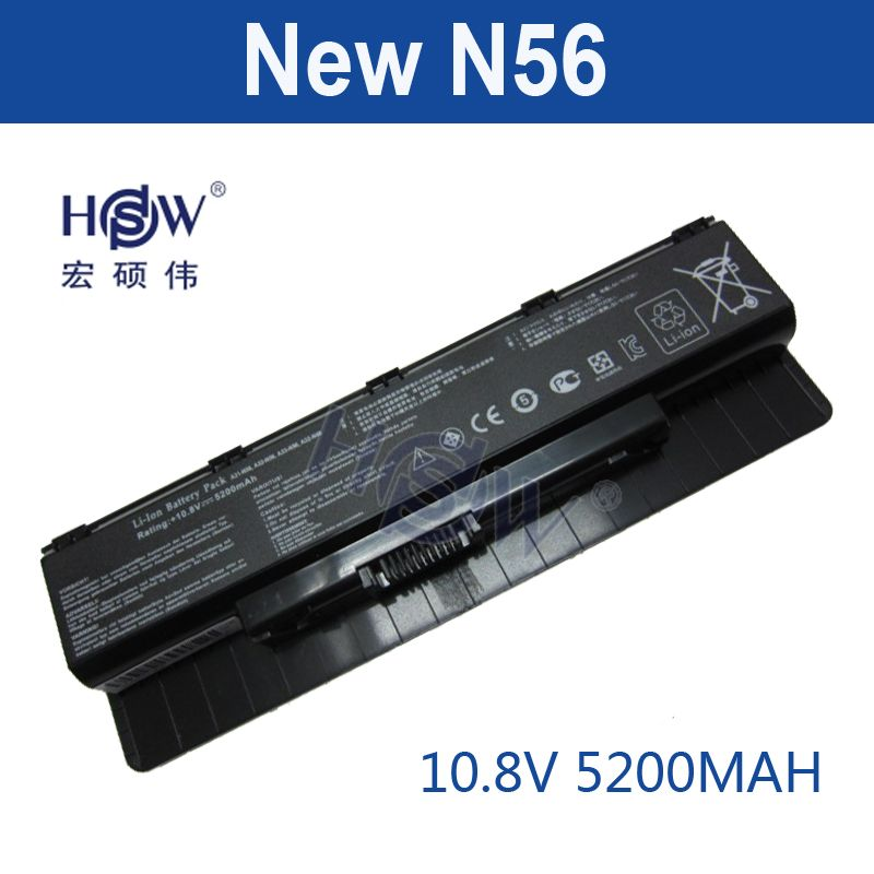 HSW 6 cell laptop-batterie Für ASUS A31-N56 A32-N56 A33-N56 N46 N76 N56 F55 N46V N56V B53V B53A F45A F45U N76V R500N N56D bateria