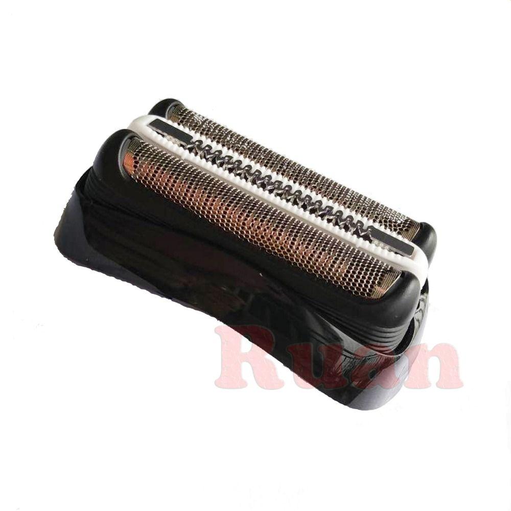 32B Black Shaver Foil & Cutter Shaver Head for Braun Series 3 320 330 340 380 390 3090CC 350CC 320S 330S Cassette Mesh Grid