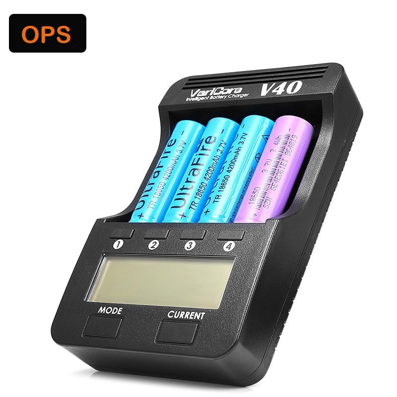 V40 LCD 3.7V 18650 Battery Charger for AA/AAA 26650/18500/16340/14500/18350 Rechargeable Battery pk Opus BT-C3100