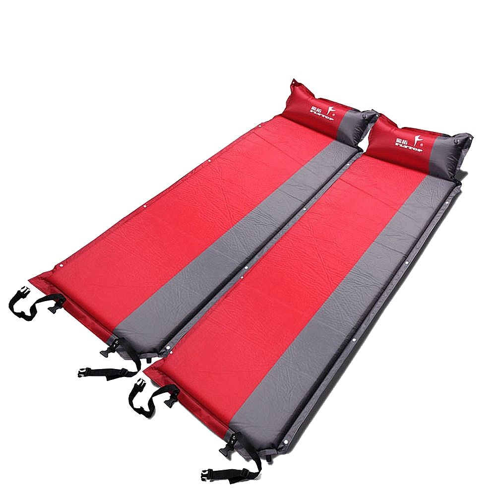 Thick 5CM Outdoor camping mat automatic inflatable air mattress spliced Self-Inflating camping mattres <font><b>tent</b></font> bed