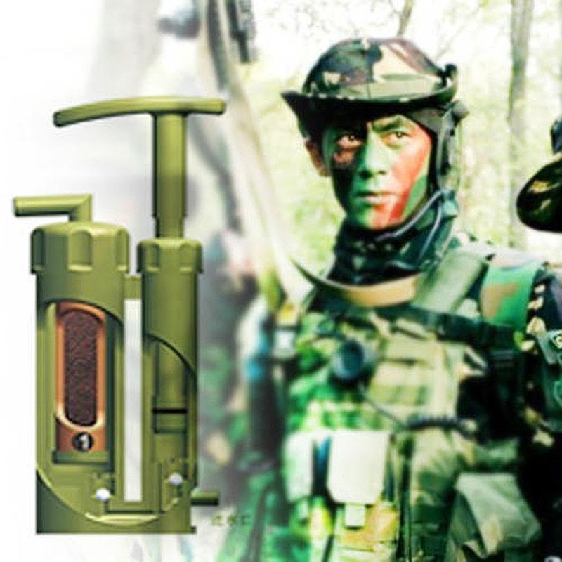 Portable Ceramic Soldier Water Filter Purifier Cleaner for Outdoor <font><b>Survival</b></font> Hiking Camping Emergency Purify Pump Outdoor #B