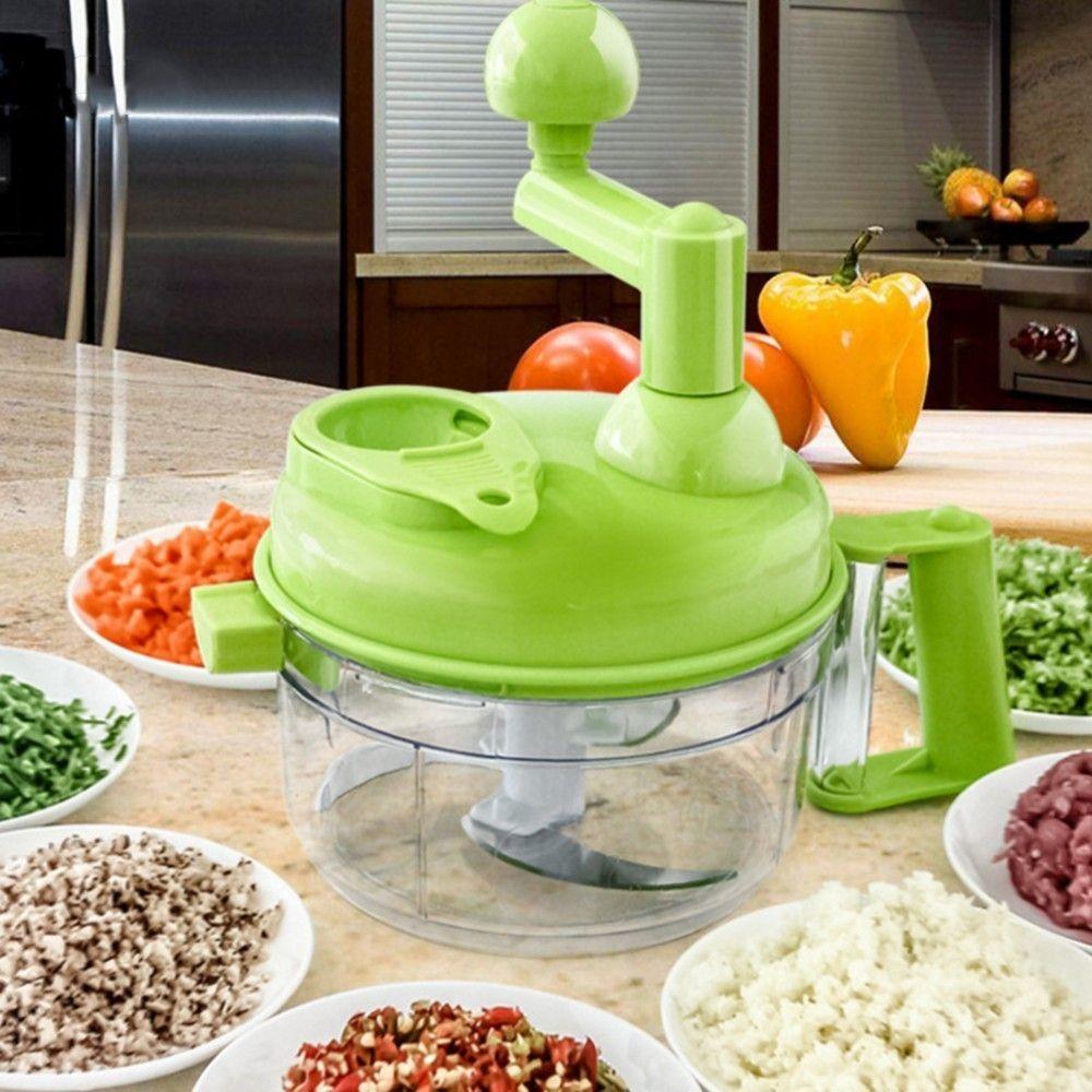 Multi-función de cocina procesador de alimentos manual carne hogar Picadoras vegetales chopper rápida Trituradoras verde cortador huevo
