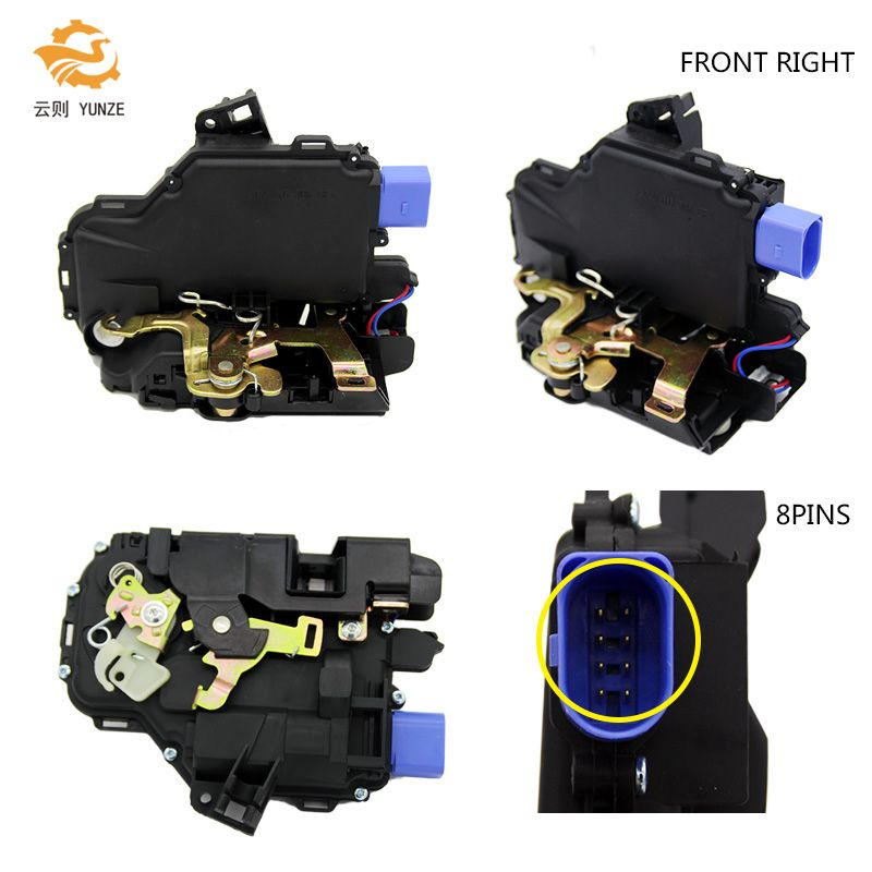 3B1837016BC FRONT RIGHT PASSENGER SIDE DOOR LOCK ACTUATOR FOR VW POLO 9N VW T5 TRANSPORTER SKODA FABIA SEAT IBIZA