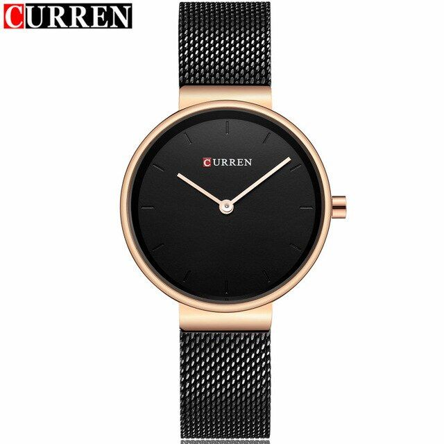 Curren Fashion Top brand Quartz Watch Women's Luxury Gold Mesh Stainless steel Bracelet Ladies Clock female relogio feminino