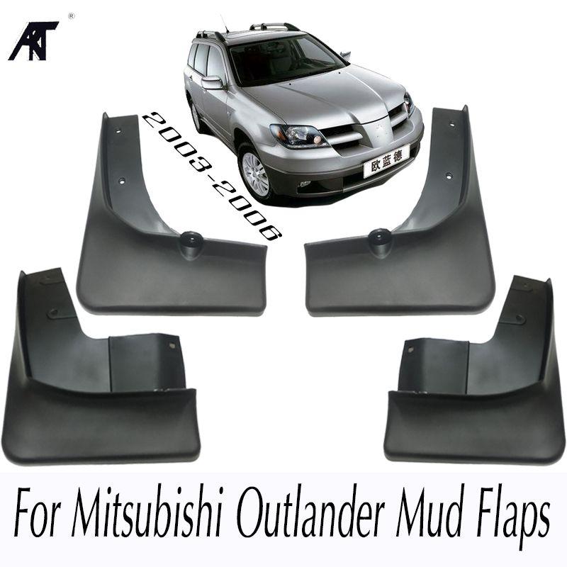 Mud Flap For Mitsubishi Outlander 2003 2004 2005 2006 Front Rear Molded Car Mud Flaps Mudflaps Splash Guards Mudguards Fender