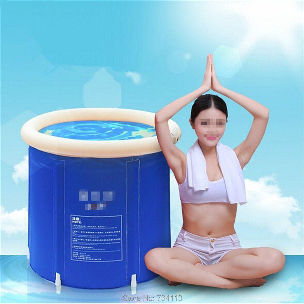 Baignoire gonflable portative baignoire pliante, baignoire adulte/enfant, baignoire en plastique gonflable, SPA de baignoire de seau d'épaississement