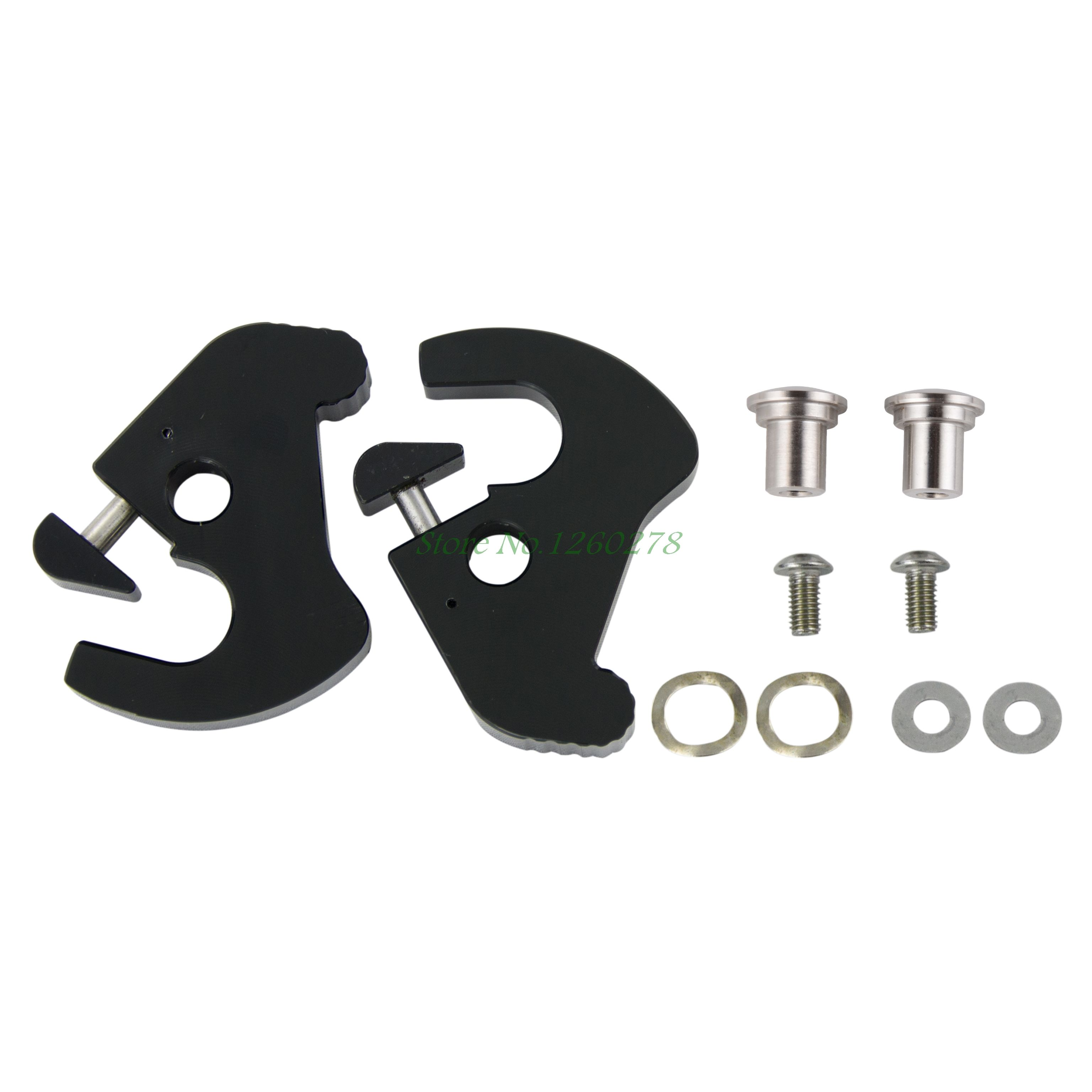 New Black H-D Detachables Latch Kits For Harley Touring Sissy Bar Luggage Racks Sportster 883 1200 Fat Boy Road King