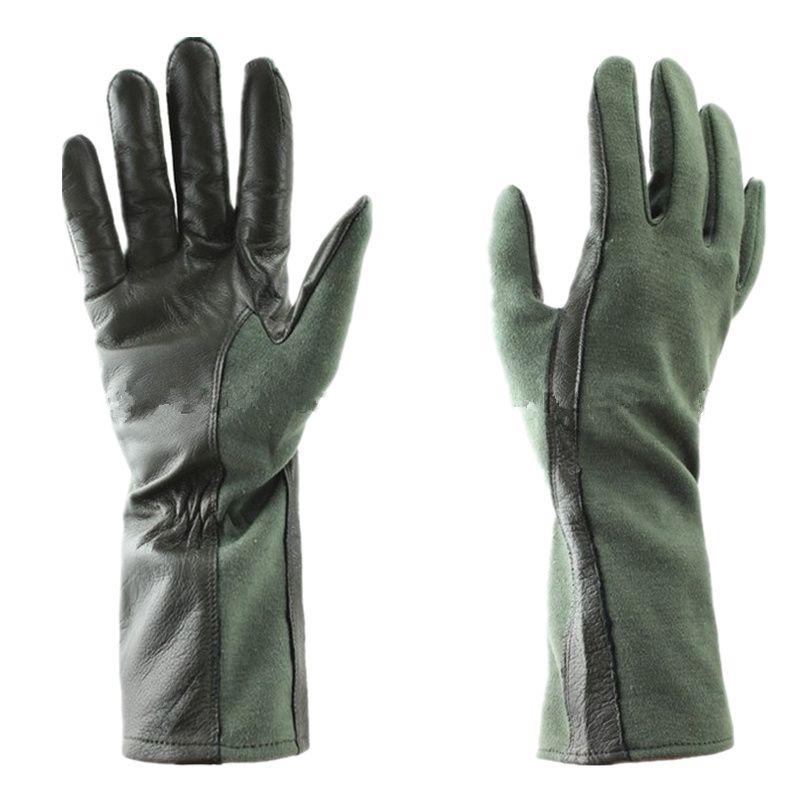 Gants tactiques militaires gant tactique en cuir gants de pilote tactique style Nomex (OD vert BK)