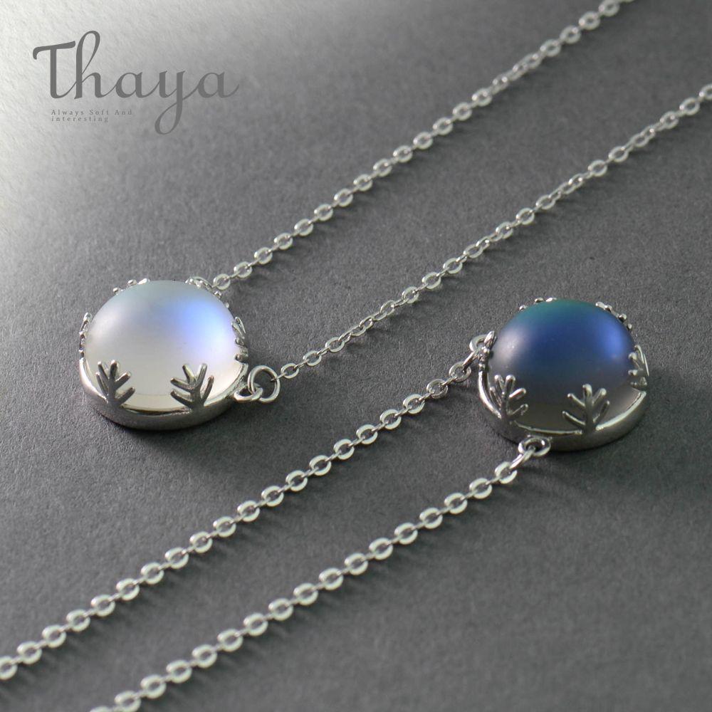 Thaya 55cm Aurora pendentif collier Halo cristal pierres précieuses s925 argent échelle lumière collier pour les femmes élégant bijoux cadeau