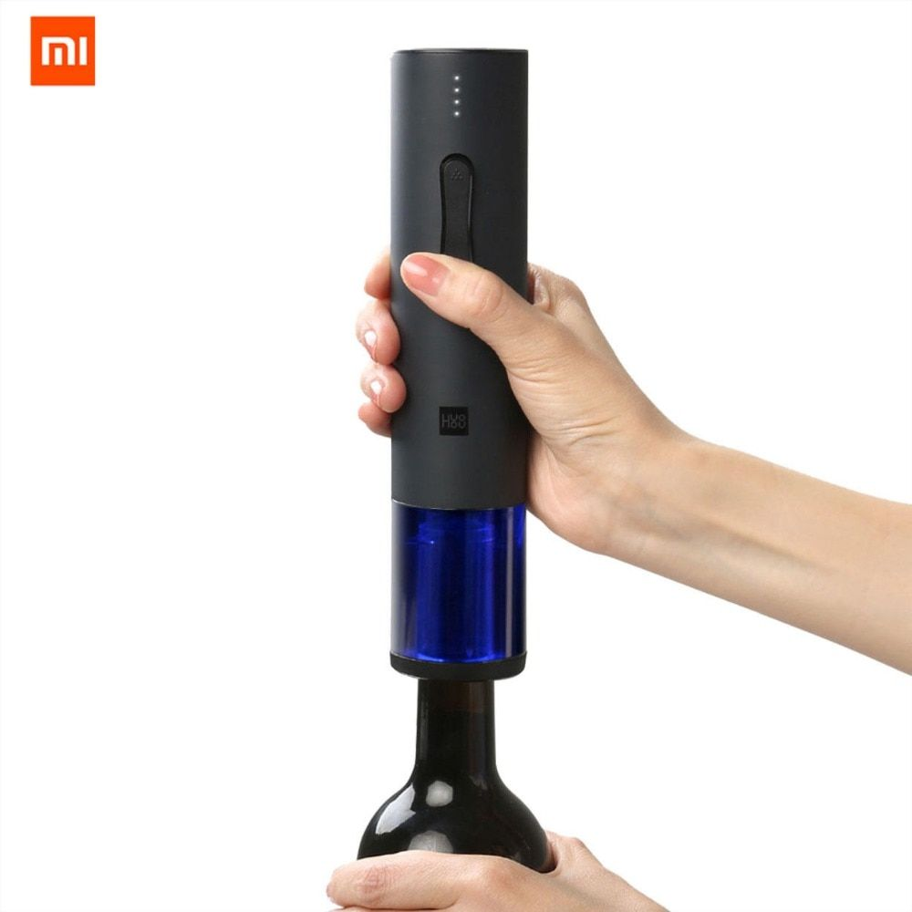 Original Xiaomi Mijia Huohou Automatic Wine Bottle Opener Kit Electric Corkscrew With Foil Cutter For xiaomi smart home kits