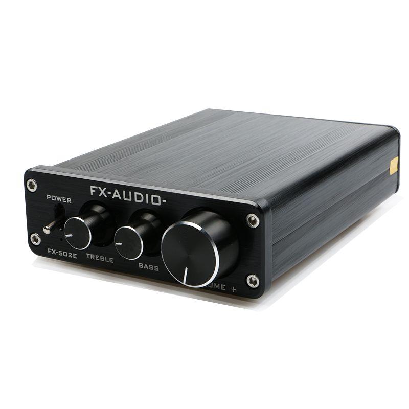 FX-Audio FX502E HiFi 2.0 настольный компьютер Динамик высокое Мощность чистый цифровой аудио Усилители домашние LM1036 Мощность Выход 68 Вт * 2-