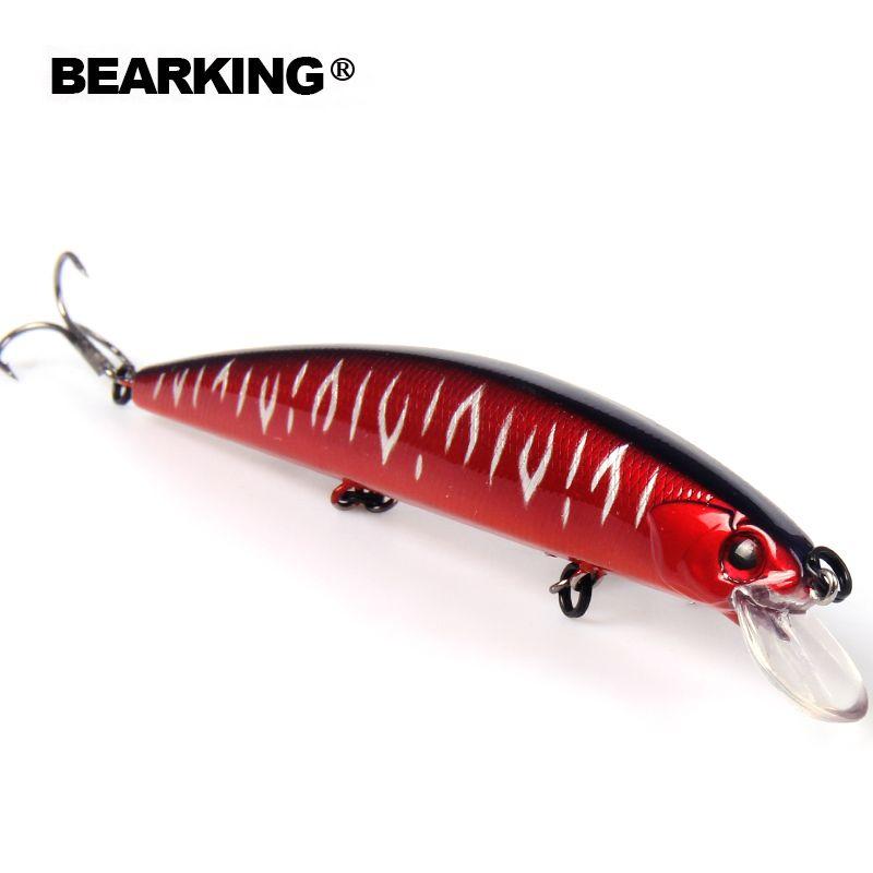 Bearking 2017 excellent bon de pêche leurres minnow, qualité professionnel appâts 13 cm/21g chaude modèle crankbaits penceil appât popper
