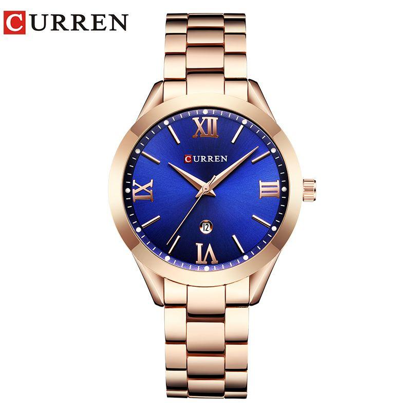CURREN Women Watches Top <font><b>Famous</b></font> Brand Luxury Bracelet Quartz Watch Female Ladies Watches Women Wristwatches Relogio Feminino