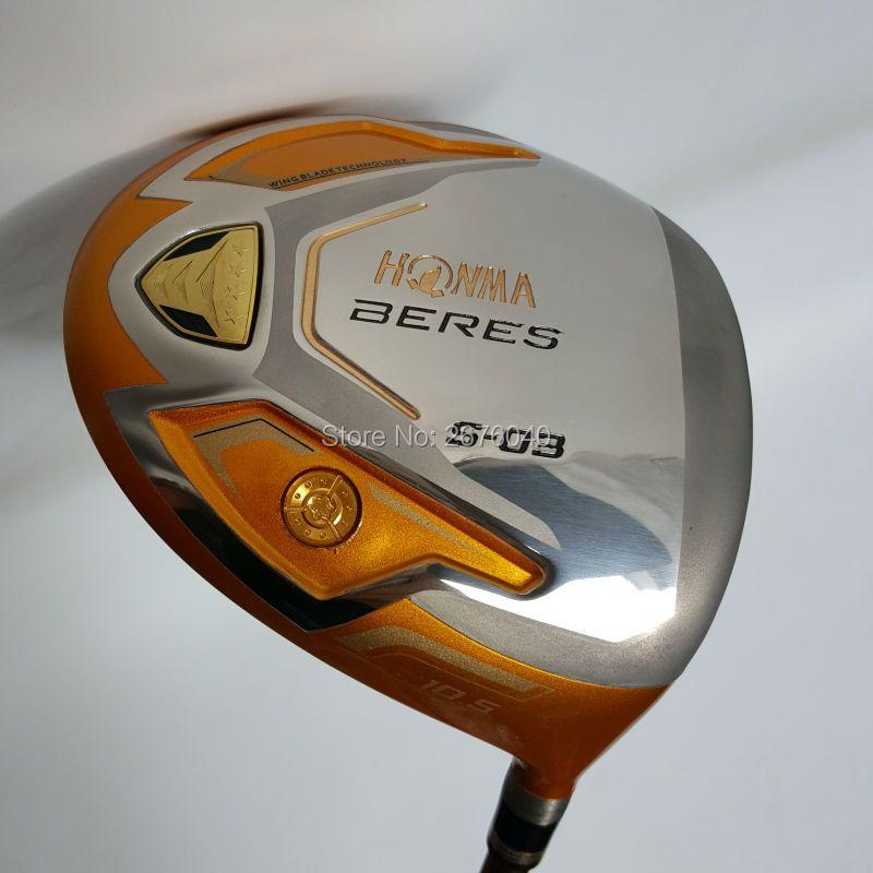 Neue Golf clubs HONMA S-03 4 Sterne Gold farbe Golf fahrer 9.5or10.5 loft Graphit welle R oder S flex fahrer clubs Kostenloser versand