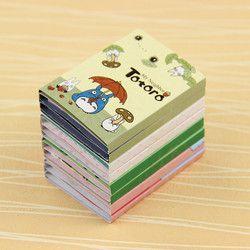 1 unid Kawaii Totoro melodía 6 plegable Bloc de notas Sticky Notes Bloc de notas papelería regalo