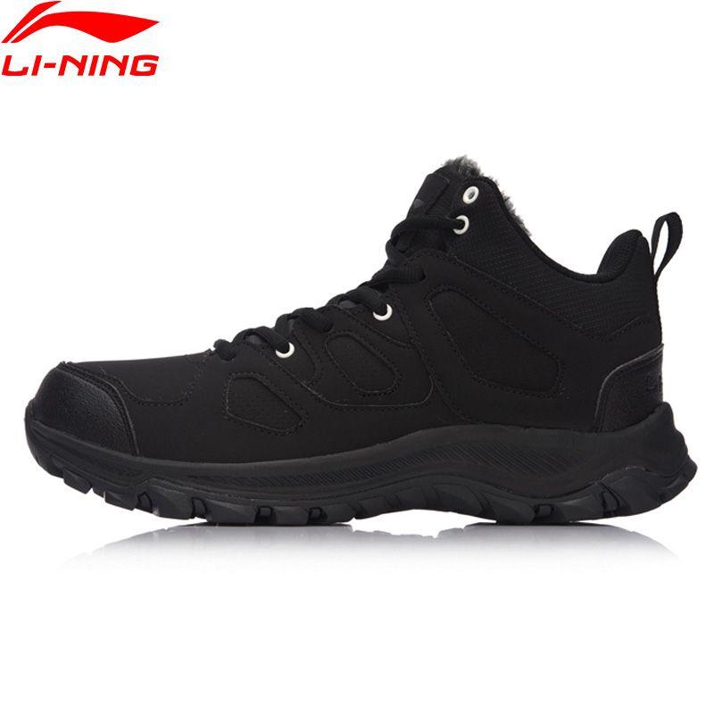 Li-Ning Hiking Boots Hi Men Hiking Shoes Classic WARM SHELL Walking Sneakers Winter Warm LiNing Sport Shoes AGCM189 YXB101