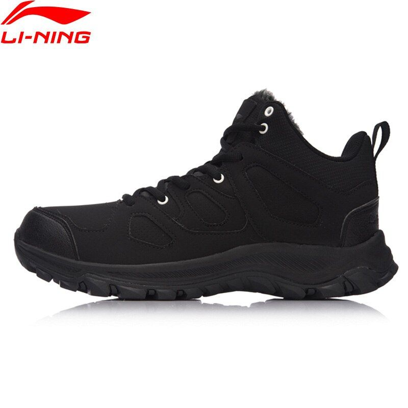 Li-Ning Hiking Boots Hi Men Hiking Shoes Classic WARM SHELL Walking Sneakers Winter Warm LiNing Sport Shoes AGCM189 YXB101