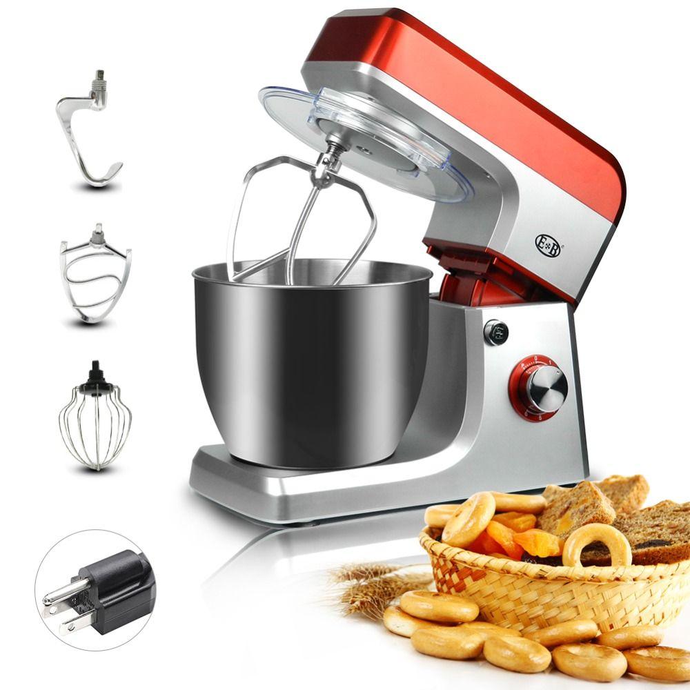 Mixer 1200 W Schüssel-aufzug Stand-Mixer 5L Küche Stehen Lebensmittel Milchshake Kuchen Mixer Teig Kneten Maschine Maker Lebensmittel mischer Ei