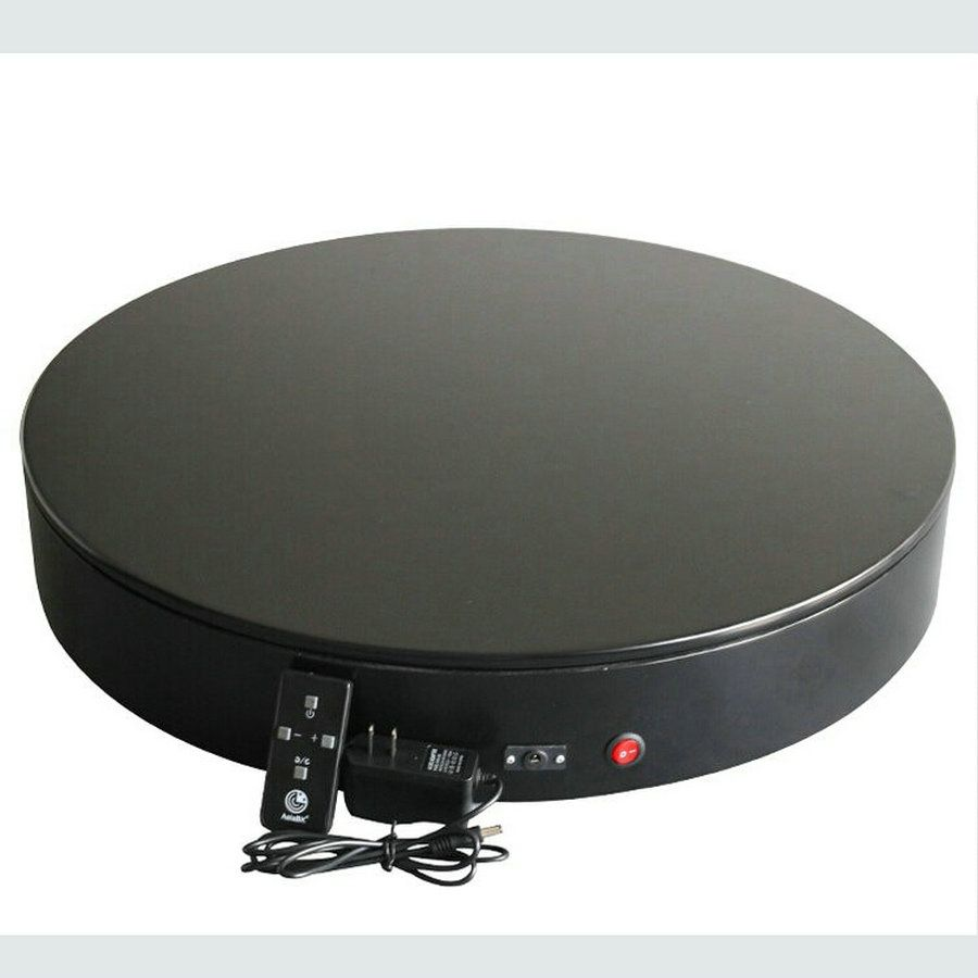 3 Speed Change Remote And Manual Control 60/90/120 Secs/Circle 60X10CM Electric Turntable Display Stand Rotary Model Show