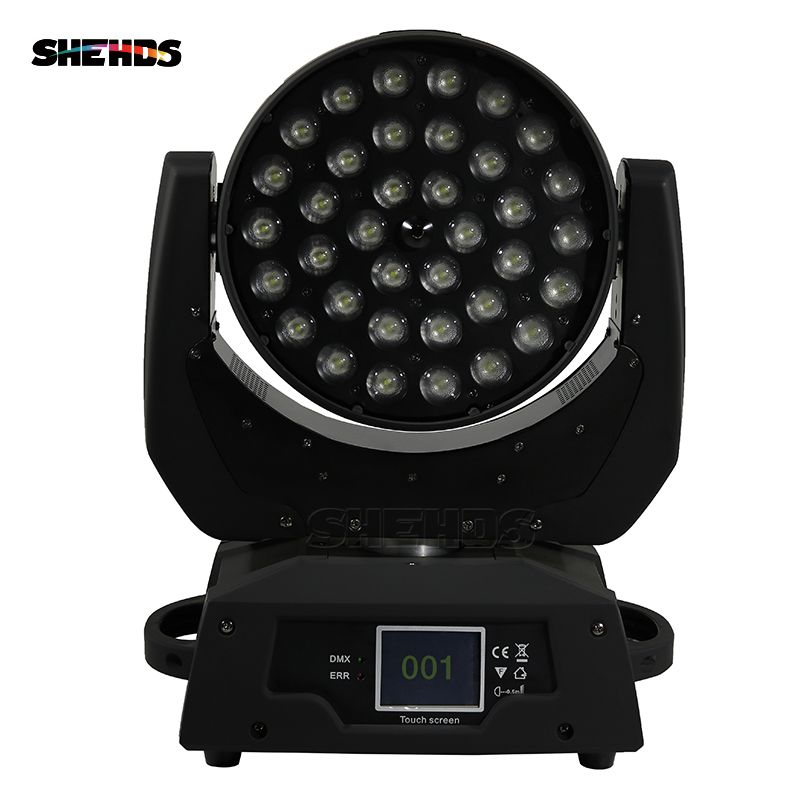 2pcs/lot LED Wash 36x18W 6in1 RGBWA+UV LED Moving Head Light With Zoom Dj Disco Club Party Wedding Stage Effect Lighting